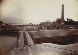 Graving Docks, and Pumping Engine House, Calcutta Docks